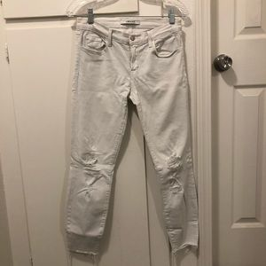 J Brand White Cropped Jeans